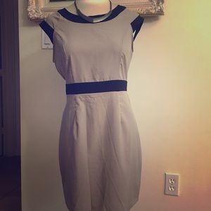 Beige dress with cutout back